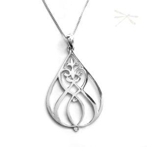 sterling silver pendant heartfelt