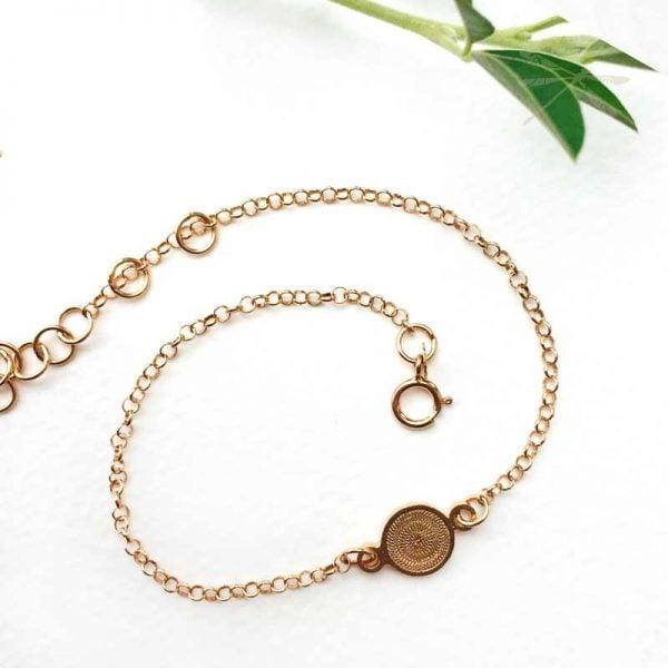 rose gold circles bracelet
