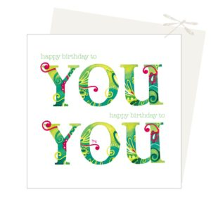 'You' birthday card