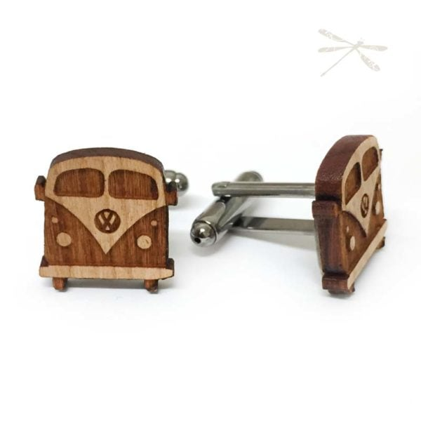 wooden kombi cuflink side