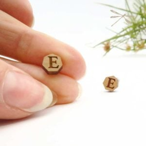 alphabet studs hexagonal