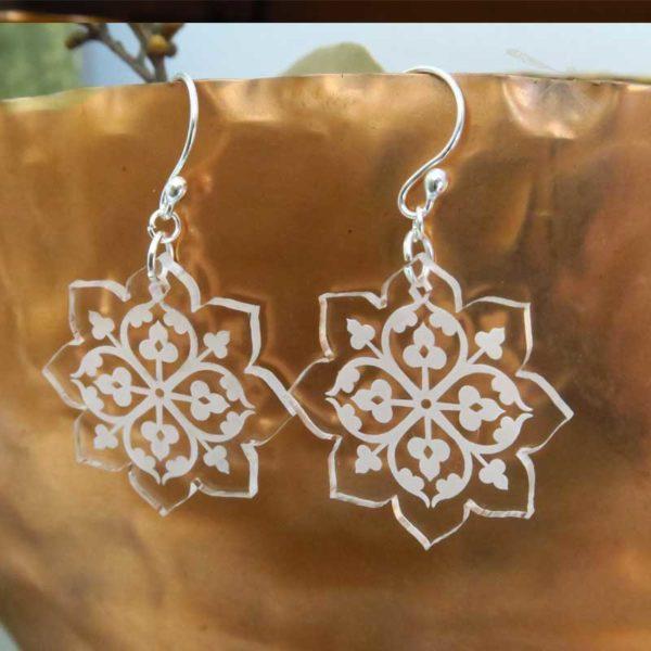 clear acrylic earring
