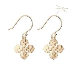 fluer earring rose gold