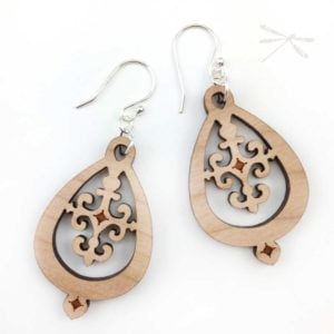 wood hampshire earring