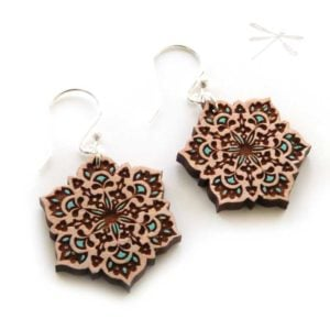 summer mandala earring