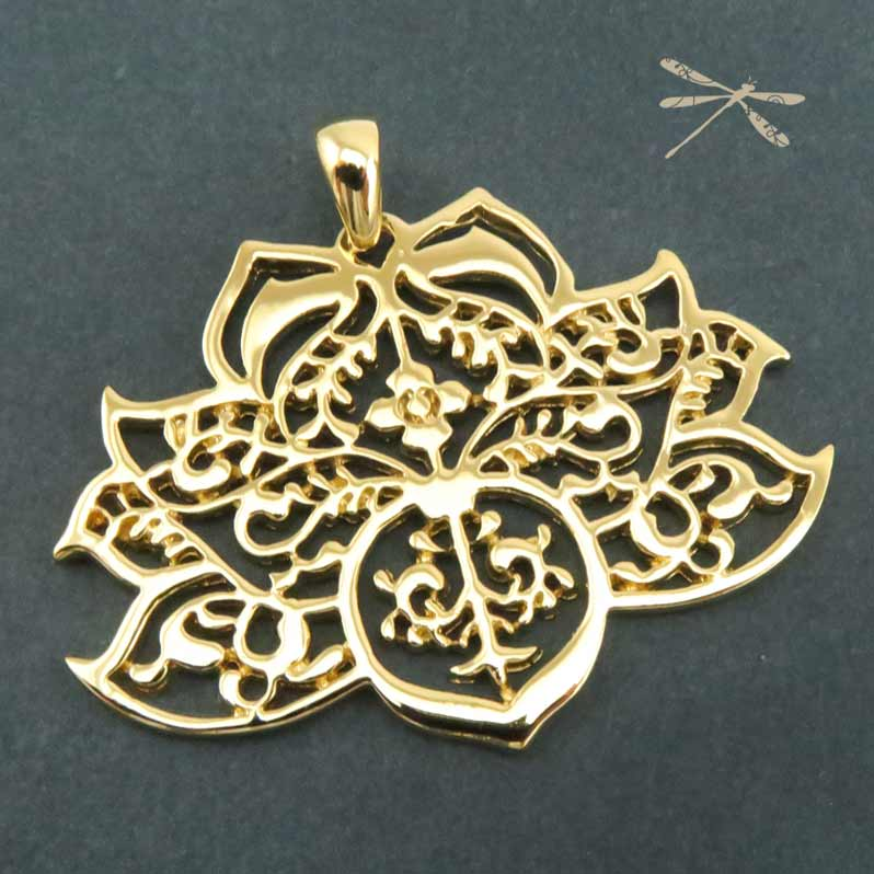 creations gold lotus pendants jodee shop pendant