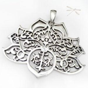 Silver lotus Pendant
