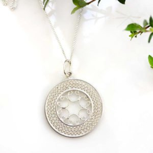 intrigue filigree pendant