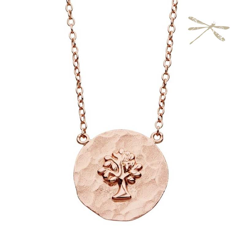 Tree of life rose gold pendant jodee creations tree pendant aloadofball Gallery