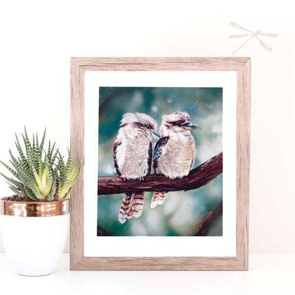 2 kookaburras print
